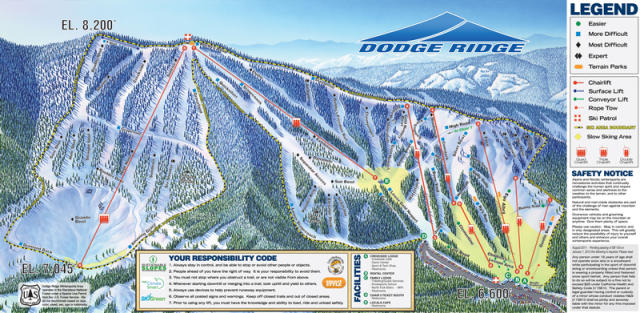 Dodge Ridge Trail Map