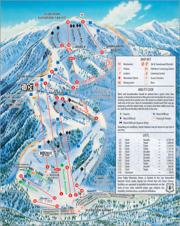 Snow Valley Trail Map