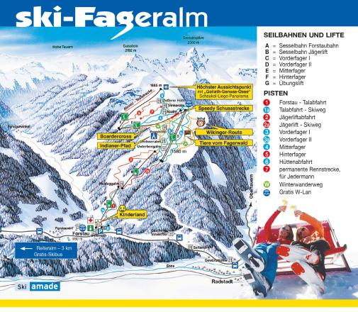 Fageralm - Forstau Trail Map
