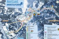 Shuttleberg Flachauwinkl - Kleinarl Piste Map