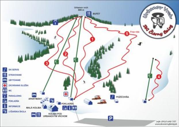Cierny Balog Trail Map