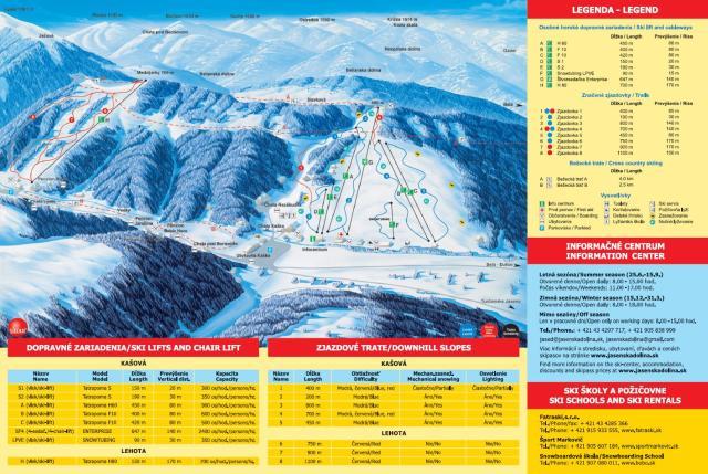 Jasenská dolina Trail Map