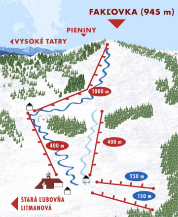Litmanová Trail Map