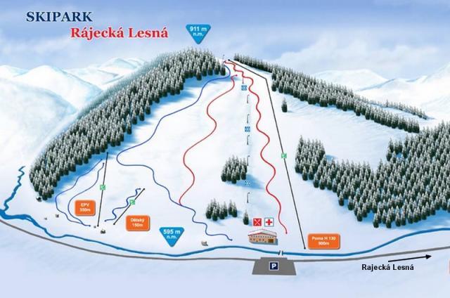 Rajecká Lesná Plan des pistes