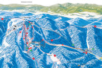 Ski Lysa Trail Map