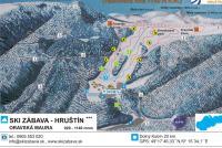Ski Zábava - Hruštín Mapa zjazdoviek
