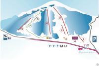Svit - Lopušná dolina Mapa zjazdoviek