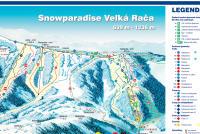 Snowparadise Veľká Rača Trail Map