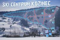 Zázrivá - Kozinec Mapa zjazdoviek
