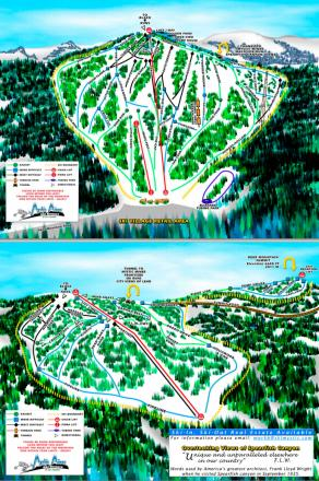 Deer Mountain Ski Resort Plan des pistes