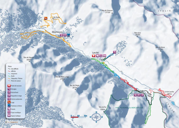 Larche Piste Map