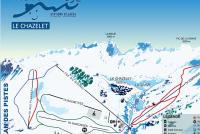 Le Chazelet Piste Map