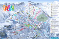 Puy Saint Vincent Trail Map