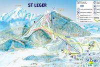 St Léger les Mélèzes Mapa de pistas