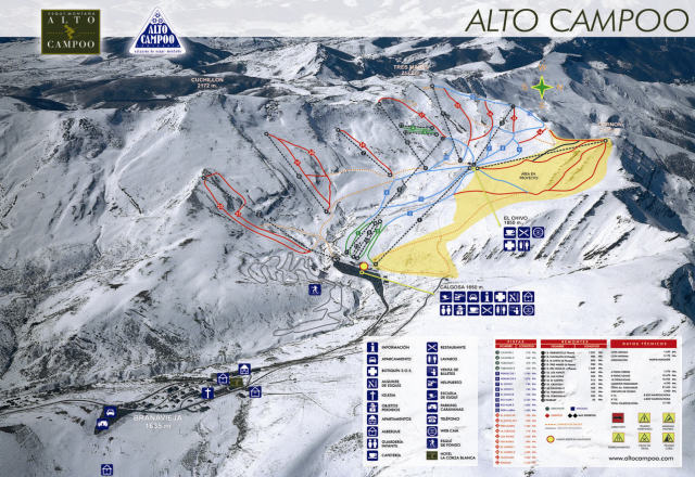 Alto Campoo Trail Map