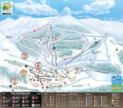 Vall de Núria Plan des pistes
