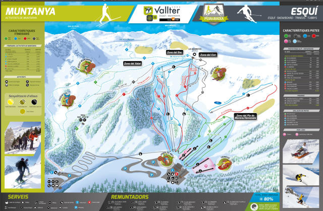 Vallter 2000 Piste Map
