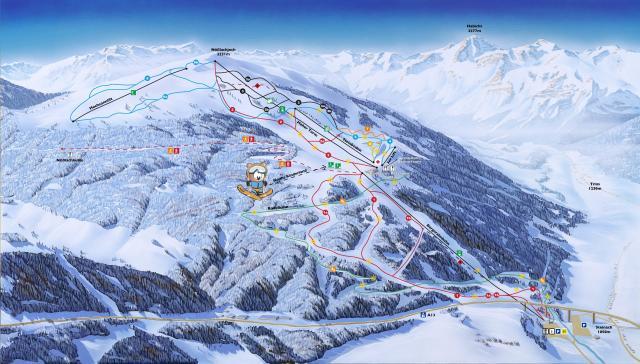 Bergeralm - Steinach am Brenner Mappa piste