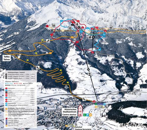 Vipiteno - Monte Cavallo - Rosskopf Plan des pistes