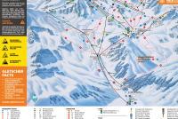 Glacier de Stubai Plan des pistes