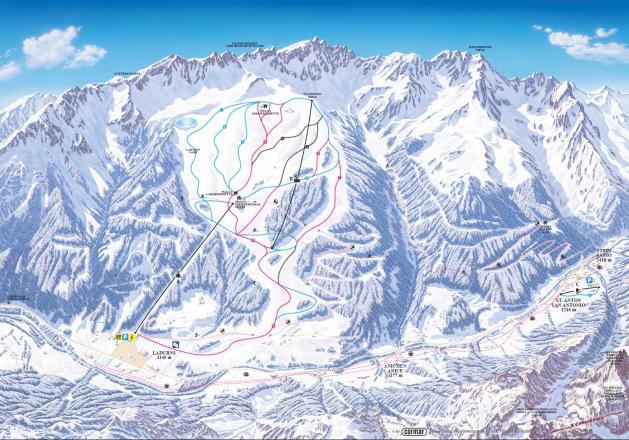 Ladurns Piste Map