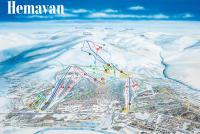 Hemavan Mapa sjezdovek