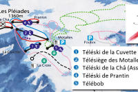 Les Pléiades Piste Map