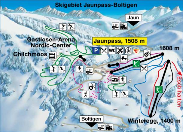 Boltigen Piste Map