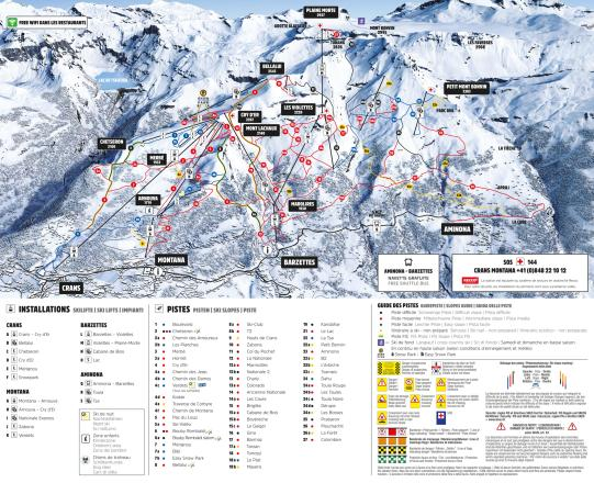 Crans Montana Trail Map