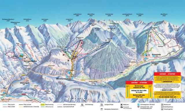 Diemtigtal - Grimmialp Trail Map
