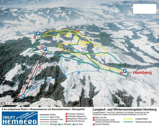 Hemberg - Bächli Trail Map