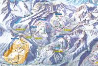 La Fouly - Val Ferret Mappa piste