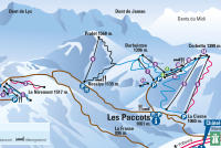 Les Paccots Mappa piste