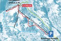Rüschegg - Eywald Pistenplan