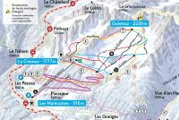 Les Marécottes - Salvan Trail Map