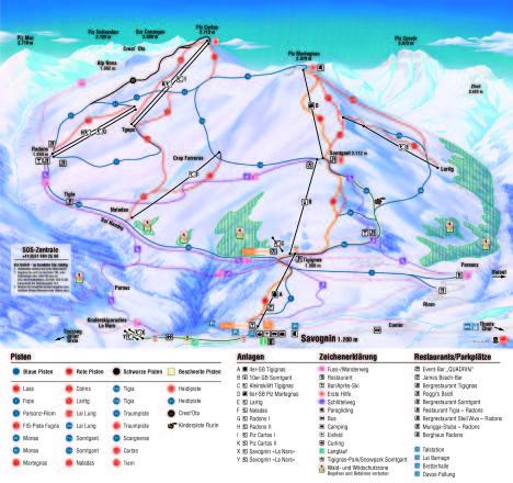 Savognin Mappa piste