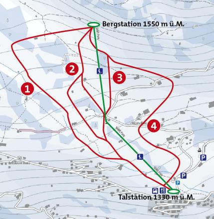 St. Antönien Trail Map