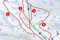 St. Antönien Plan des pistes