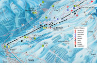 Vals / Valsertal Mapa de pistas