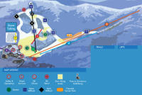 Ober Gatlinburg Ski Resort Mapa tras