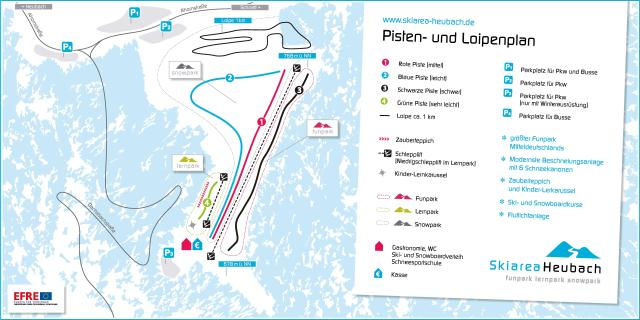Masserberg/Fehrenbach/Heubach Mapa de pistas
