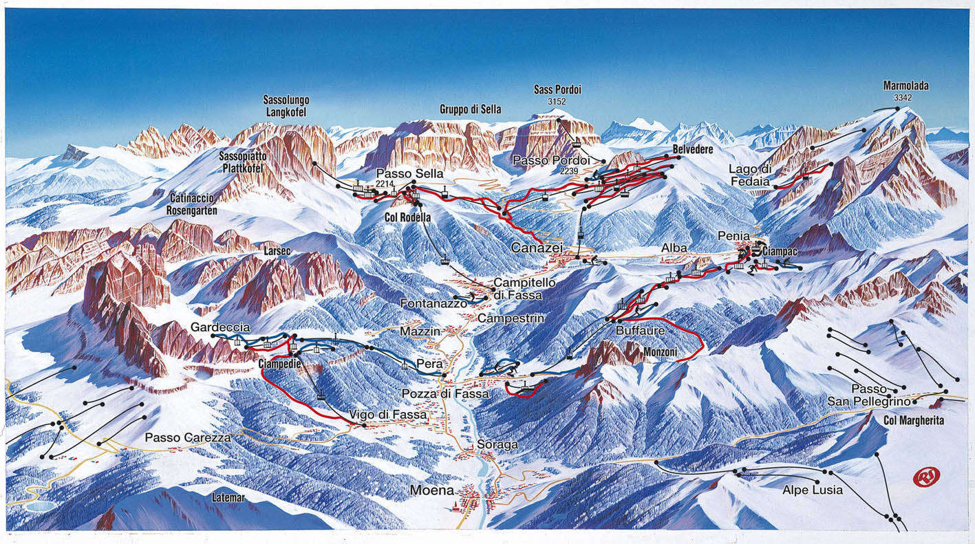 Alba Ciampac Piste Map Plan of ski slopes and lifts OnTheSnow