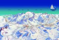 Ghiacciaio Presena Mapa zjazdoviek