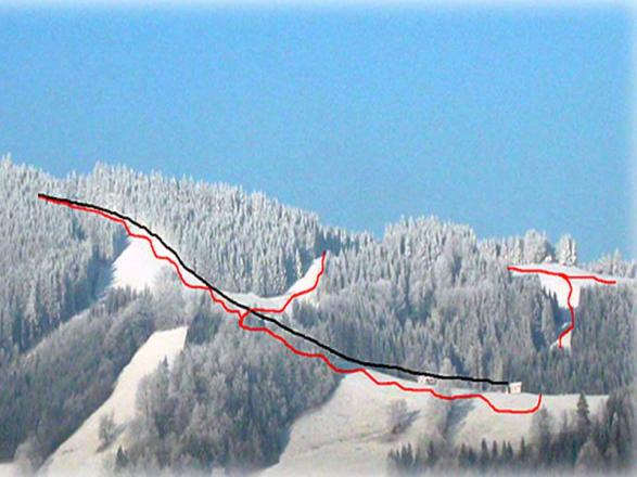 Glasenberg - Maria Neustift Plan des pistes