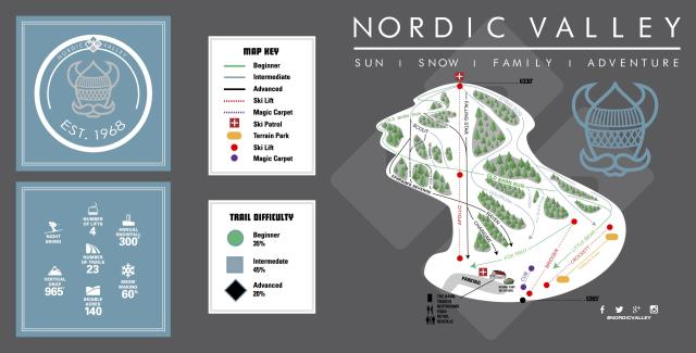 Nordic Valley Resort Plan des pistes