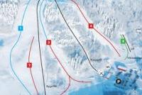 Falköping Alpin Plan des pistes