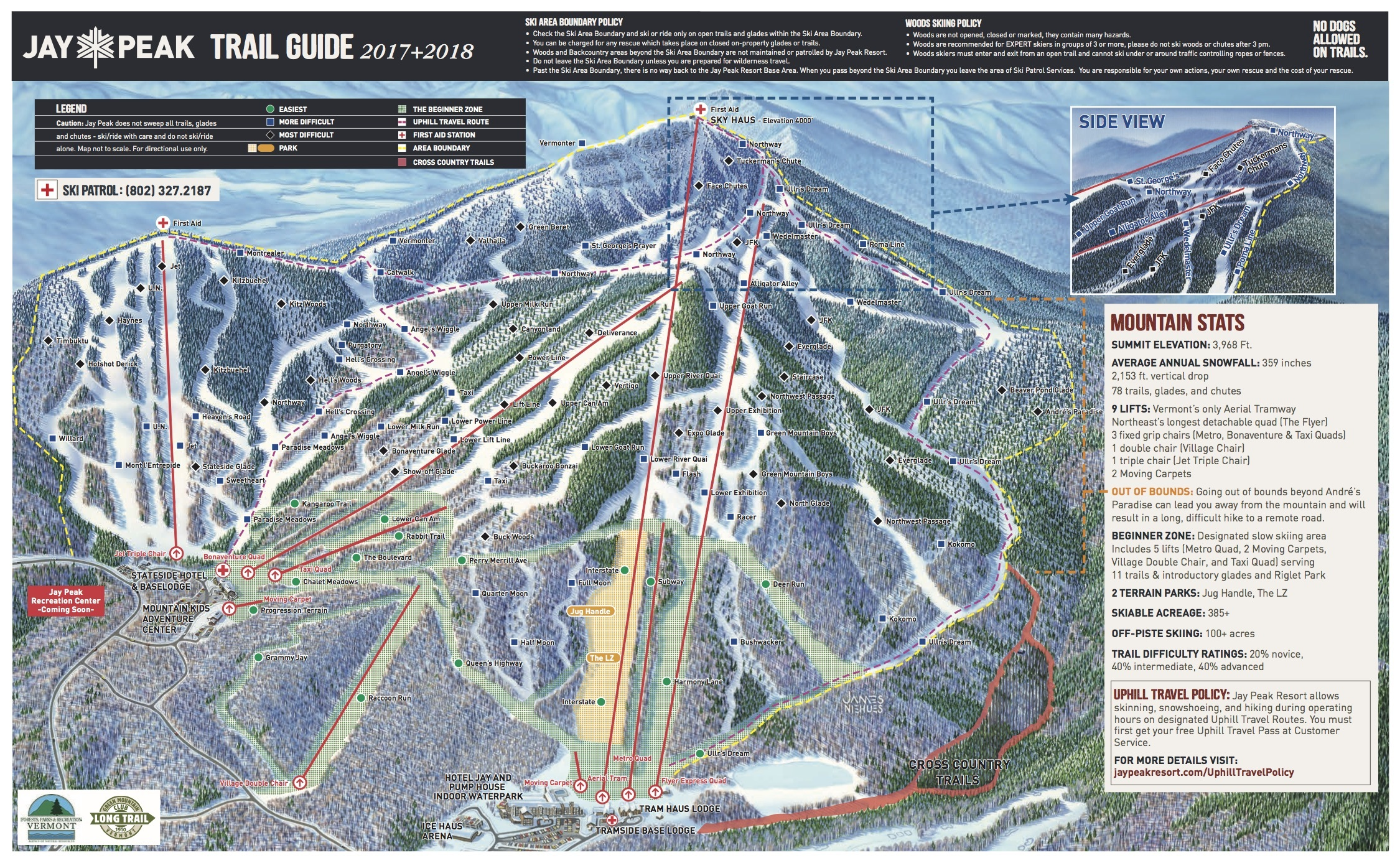 Jay Peak Trail Map Onthesnow