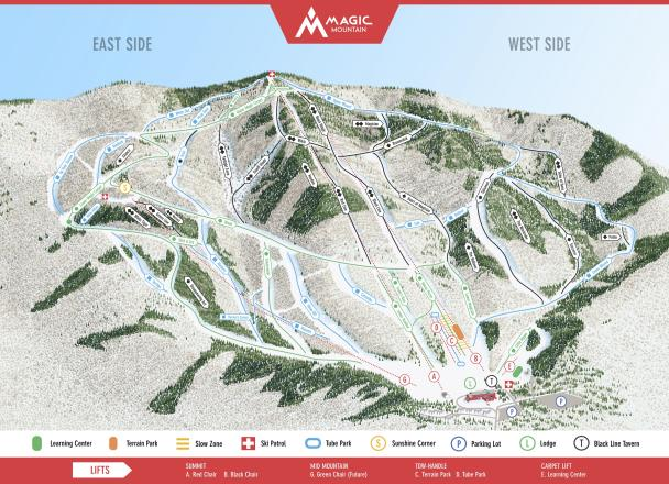 Magic Mountain Trail Map