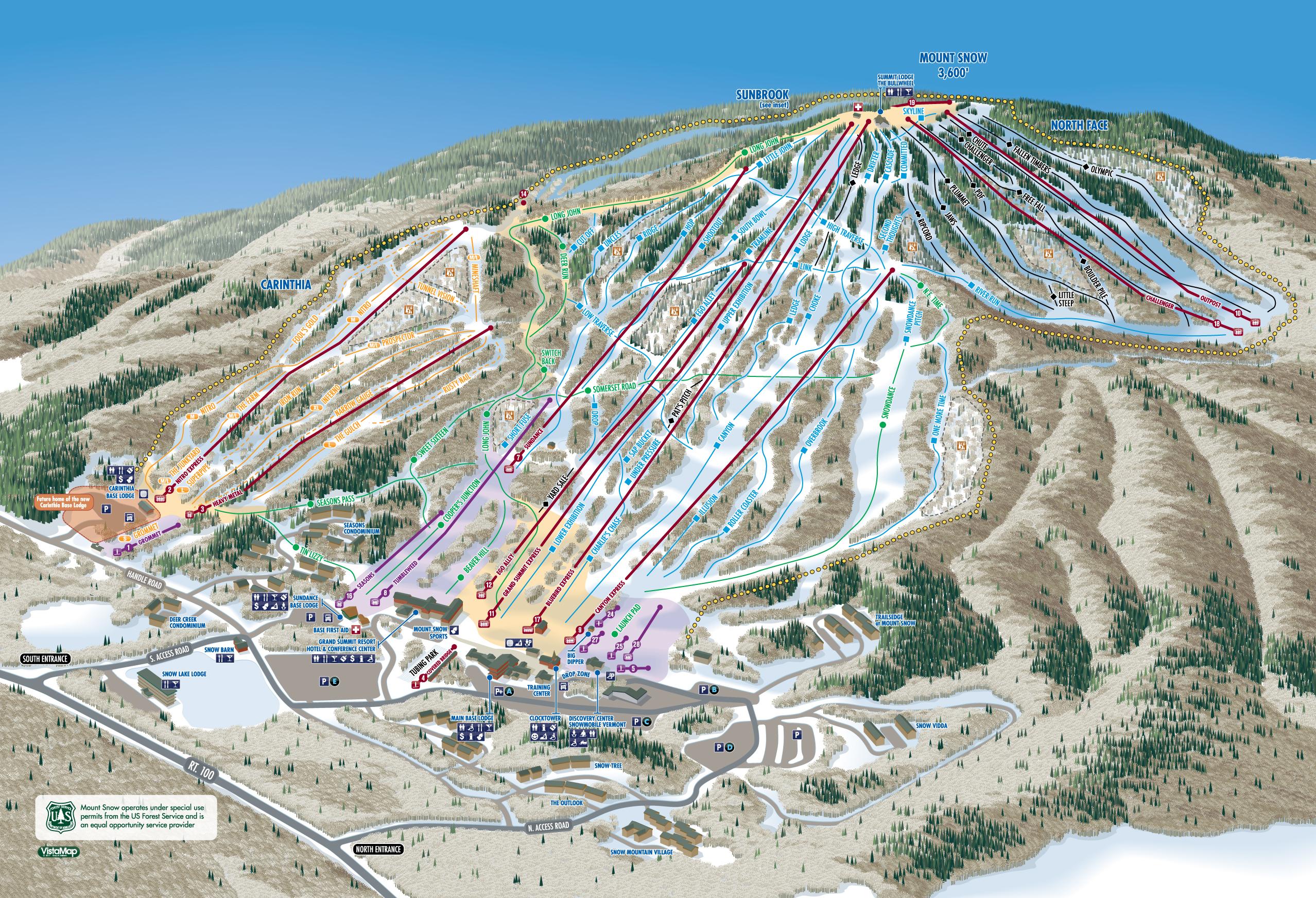 mount snow trail map | onthesnow