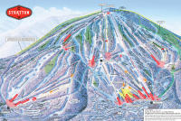 Stratton Mountain Pistenplan
